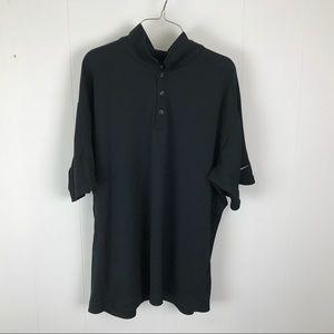 Nike mens golf polo black shirt XL